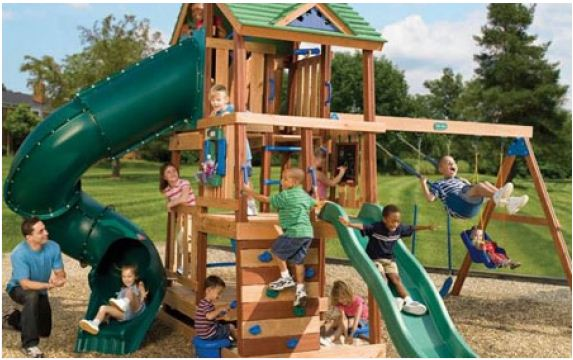 playground with children playing
